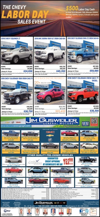 The Chevy Labor Day Sales Event
