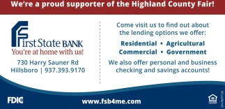 We're a proud supporter of the Highland County Fair