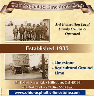 Ohio Asphaltic Limestone Corp