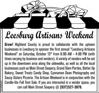 Leesburg Artisans Weekend
