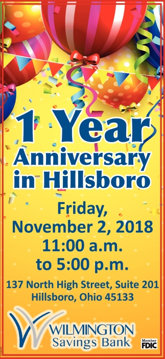1 Year Anniversary in Hillsboro