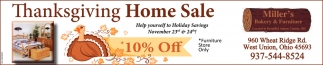 Thanksgiving Home Sale