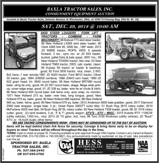 Baxla Tractor Sales Inc