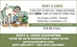 Tax Preparation, Payroll Taxes, Accounting