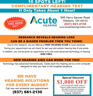Complimentary Hearing Test