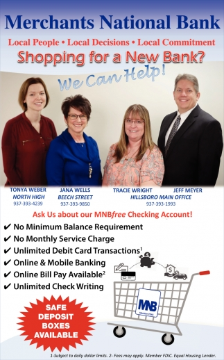 Shopping for a New Bank?  - We can help?