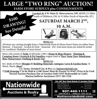 Large Two Ring Auction